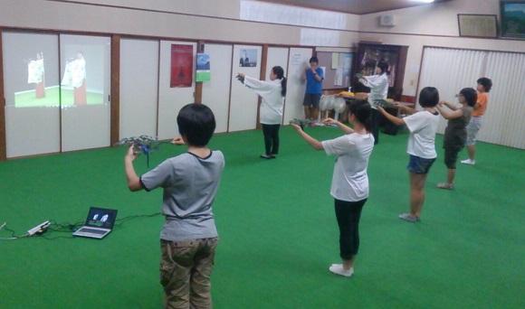 巫女舞の練習(栄田町)150830