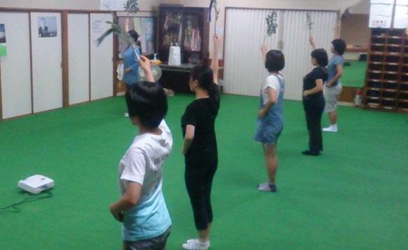 巫女舞の練習(栄田町)150905